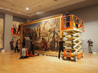 Public restoration of painting, National Gallery of Victoria